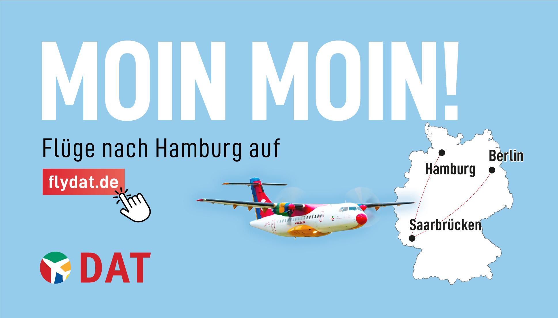 DAT fliegt ab 3.Mai von Saarbrücken nach Hamburg